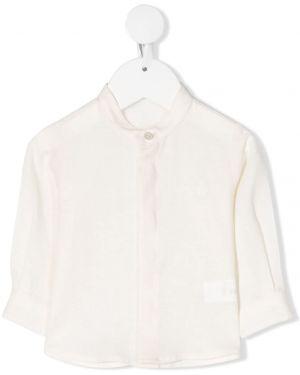 С рукавами белая рубашка с воротником-стойка Le Bebé Enfant