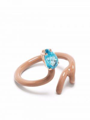 Niebieski złoty pierścionek Bea Bongiasca