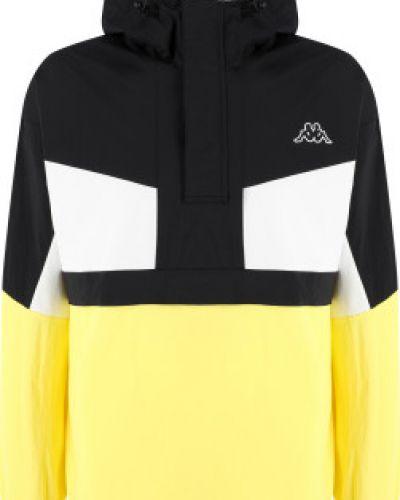 Утепленная желтая куртка на молнии Kappa