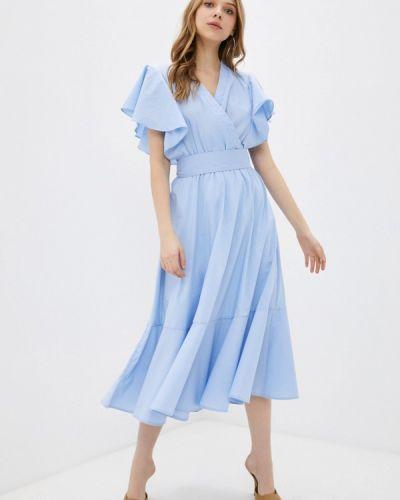 Голубое платье на запах Trendyangel