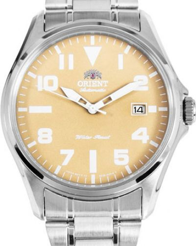 Часы механические водонепроницаемые круглые Orient