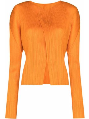 Кардиган длинный - оранжевый Pleats Please Issey Miyake