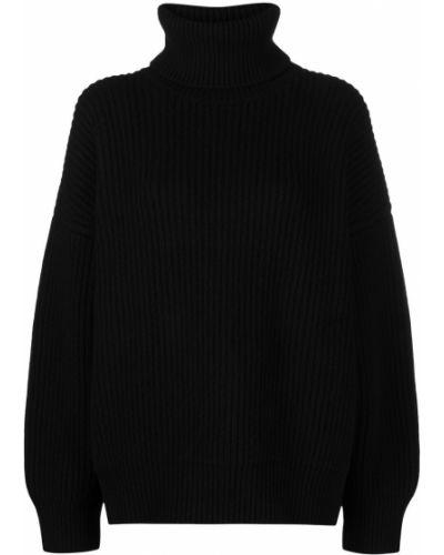 Трикотажный черный джемпер с воротником Dolce & Gabbana