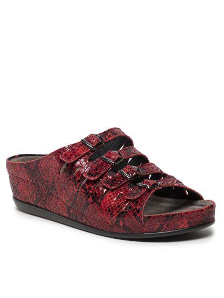 Sandały bordowe Berkemann