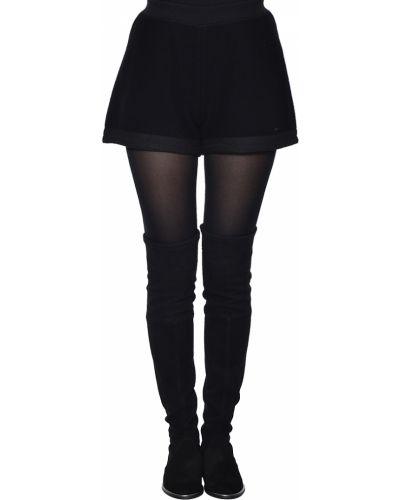 Черные шорты шерстяные Armani Jeans