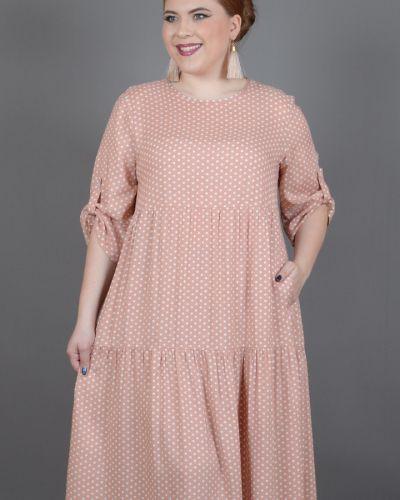 Платье в горошек из штапеля Avigal (avrora)