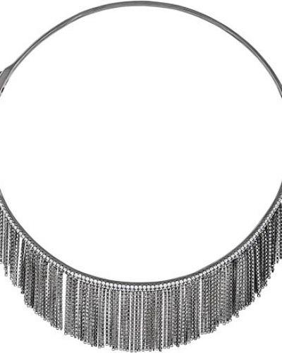 Серебряное ожерелье с подвесками с декоративной отделкой Silver Sky