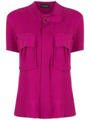 Блузка с короткими рукавами - фиолетовая Olympiah