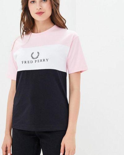 Розовая футболка Fred Perry