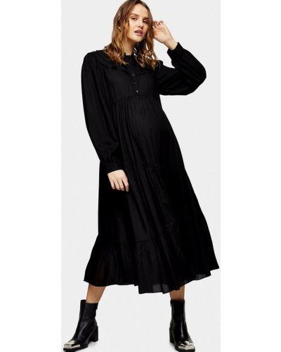 Прямое черное платье для беременных Topshop Maternity