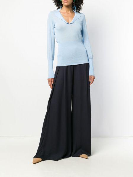 Niebieskie spodnie z wiskozy Jacquemus