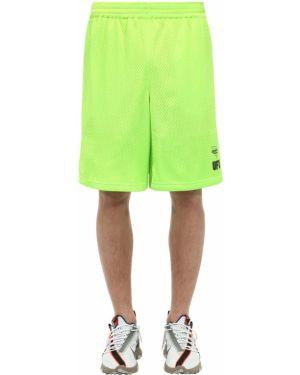 Zielone krótkie szorty z nylonu z siateczką Ufu - Used Future