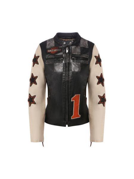 Кожаная кожаная куртка с подкладкой Harley Davidson