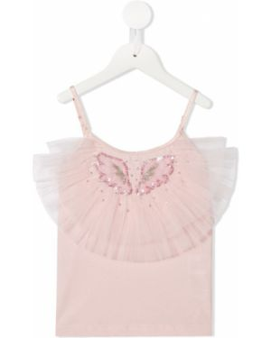 Розовая футболка узкого кроя Tutu Du Monde