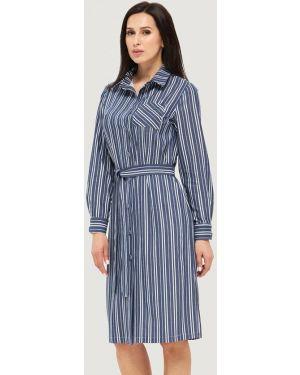Платье платье-рубашка синее Danna