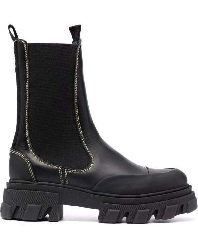 Черные резиновые ботинки Ganni