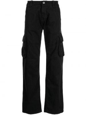 Черные брюки на молнии Alpha Industries