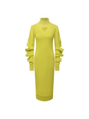 Шелковое платье - зеленое Bottega Veneta