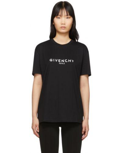 Bawełna czarny koszula z krótkim rękawem z kołnierzem zabytkowe Givenchy