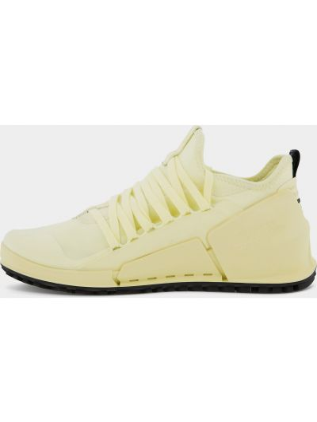 Желтые кожаные кроссовки беговые для бега Ecco