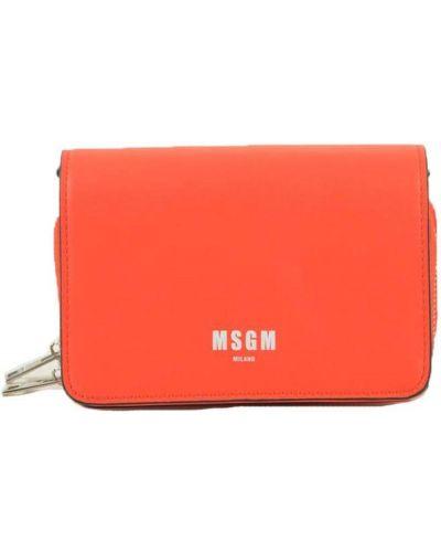 Pomarańczowa kopertówka na co dzień Msgm