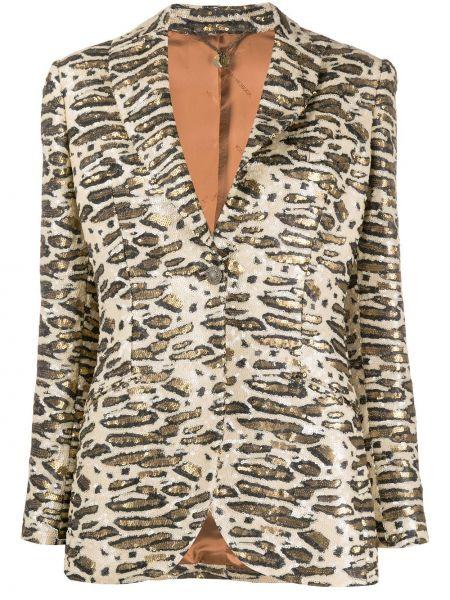 Куртка на пуговицах с пайетками с лацканами с карманами Maurizio Miri