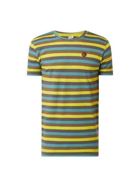 Żółty t-shirt w paski bawełniany Alife And Kickin