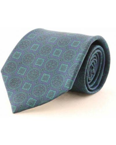 Niebieski krawat z jedwabiu Dior Vintage