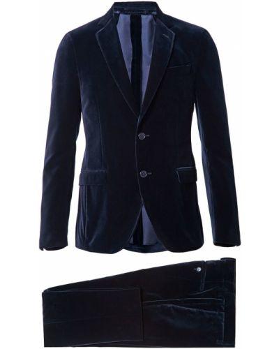 Однобортный темно-синий костюмный костюм Browns