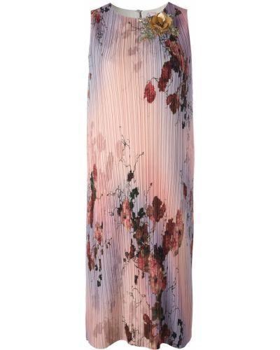 Платье розовое с цветочным принтом Antonio Marras