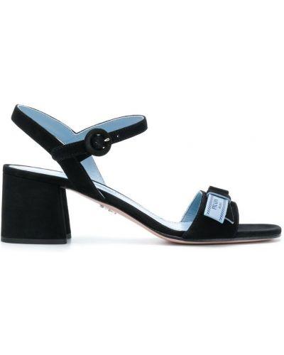 Кожаные босоножки на каблуке Prada
