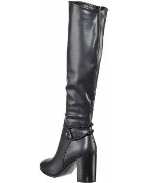 Ботинки на каблуке черные из искусственной кожи Wilmar