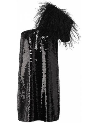 Платье мини с пайетками шелковое No. 21