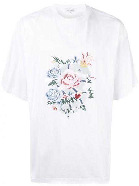 Koszula krótkie z krótkim rękawem prosto z haftem A(lefrude)e