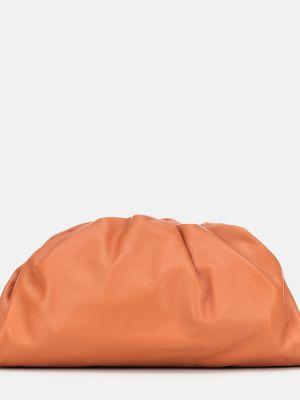 Kopertówka skórzana - pomarańczowa Bottega Veneta