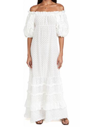 Biała sukienka mini bawełniana Chio