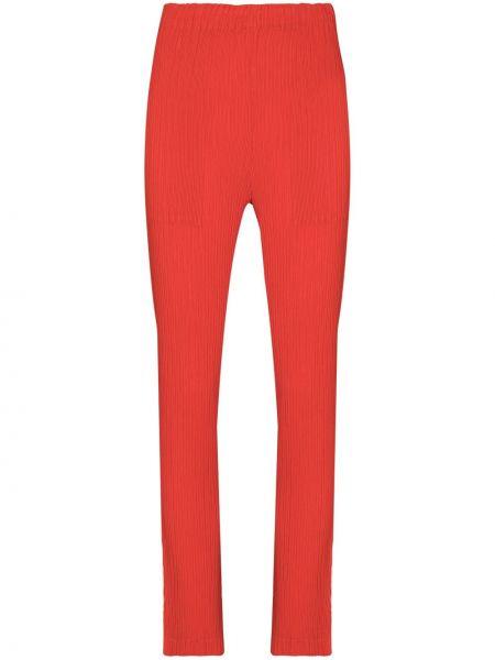Брючные красные брюки Issey Miyake