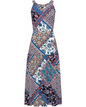 Платье макси с поясом на резинке Bonprix