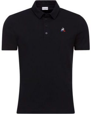T-shirt bawełniany miejski zapinane na guziki Le Coq Sportif
