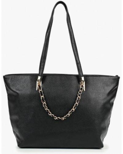 Кожаная сумка шоппер черная Carpisa
