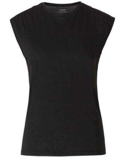 Czarny t-shirt bez rękawów Frame