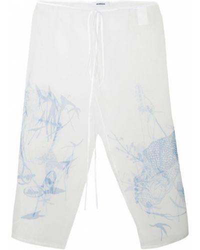 Укороченные брюки - белые Marios