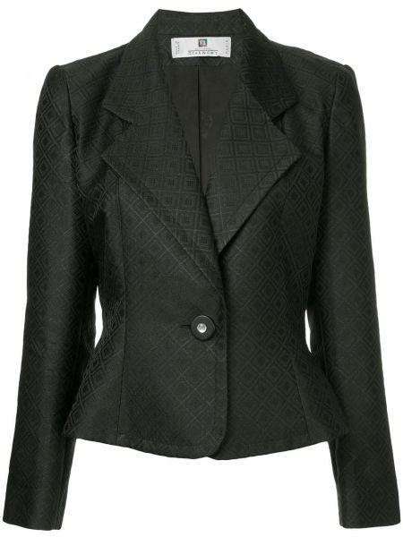 Черная куртка с манжетами с люрексом на пуговицах Givenchy Pre-owned