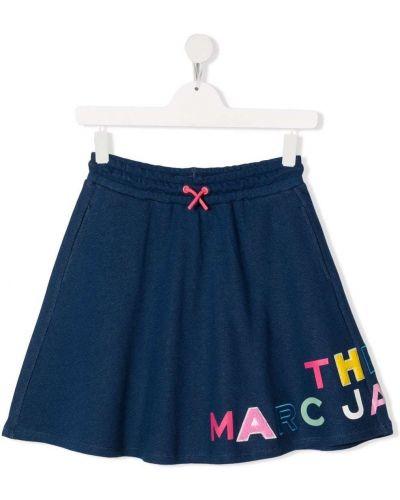 Spódnica z haftem - niebieska The Marc Jacobs Kids