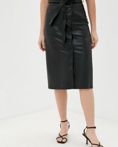 Черная кожаная юбка Marks & Spencer