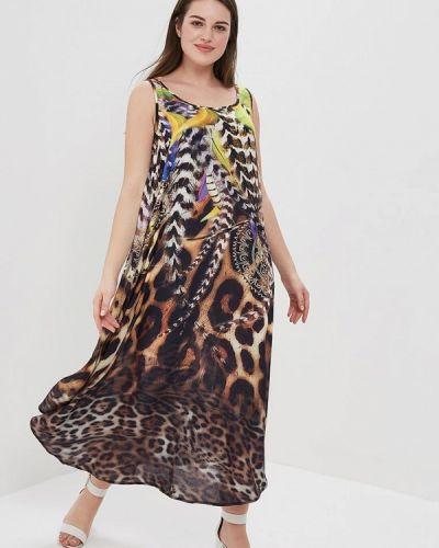 Пляжное платье весеннее платье-туника Ulla Popken