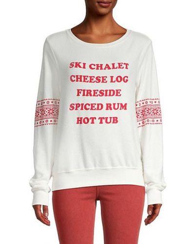 Флисовый пуловер с манжетами с длинными рукавами Wildfox