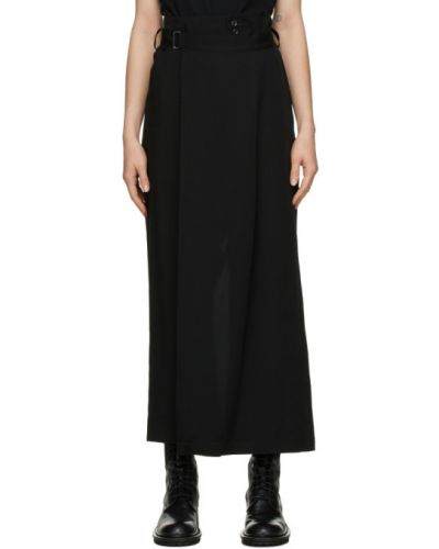 Брючные черные брюки с карманами свободного кроя Yohji Yamamoto
