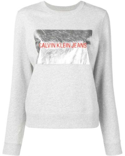 Джинсы с манжетами с принтом Calvin Klein Jeans
