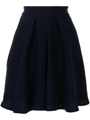 С завышенной талией синяя юбка-шорты с поясом Eudon Choi